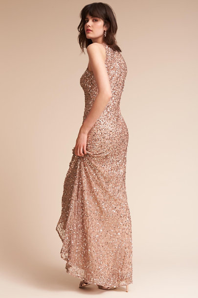 Adrianna Papell Gold Vanity Dress | BHLDN
