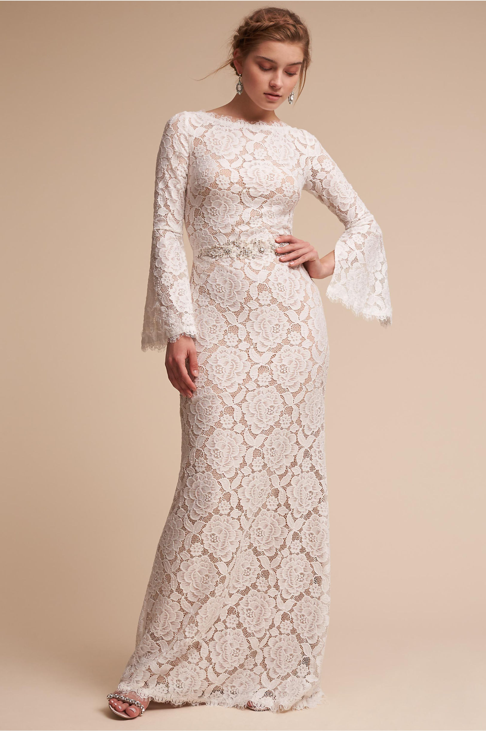 Foster Dress Ivory/Champagne in Sale | BHLDN