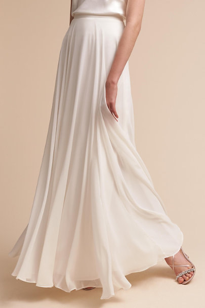 Jenny Yoo Winter White Hampton Skirt | BHLDN