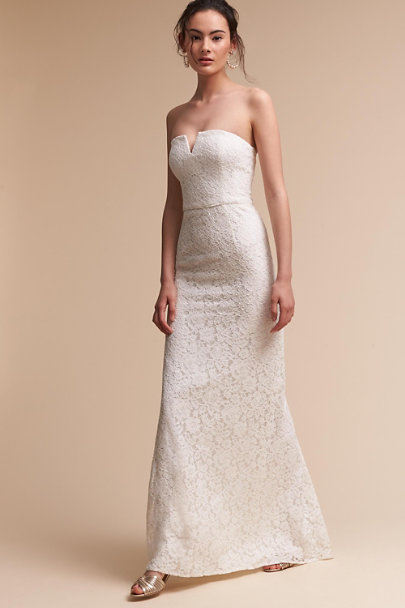 Donna Morgan Ivory Winsome Dress | BHLDN