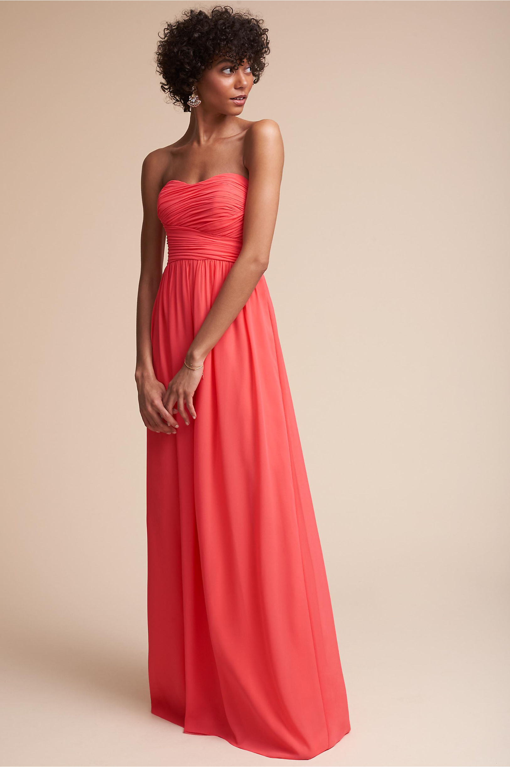 Alluring Dress Coral in Sale | BHLDN