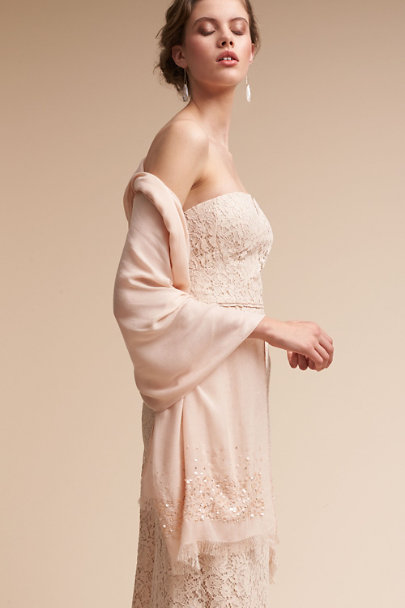 Adrianna Papell Oyster Annelise Pashmina Wrap | BHLDN