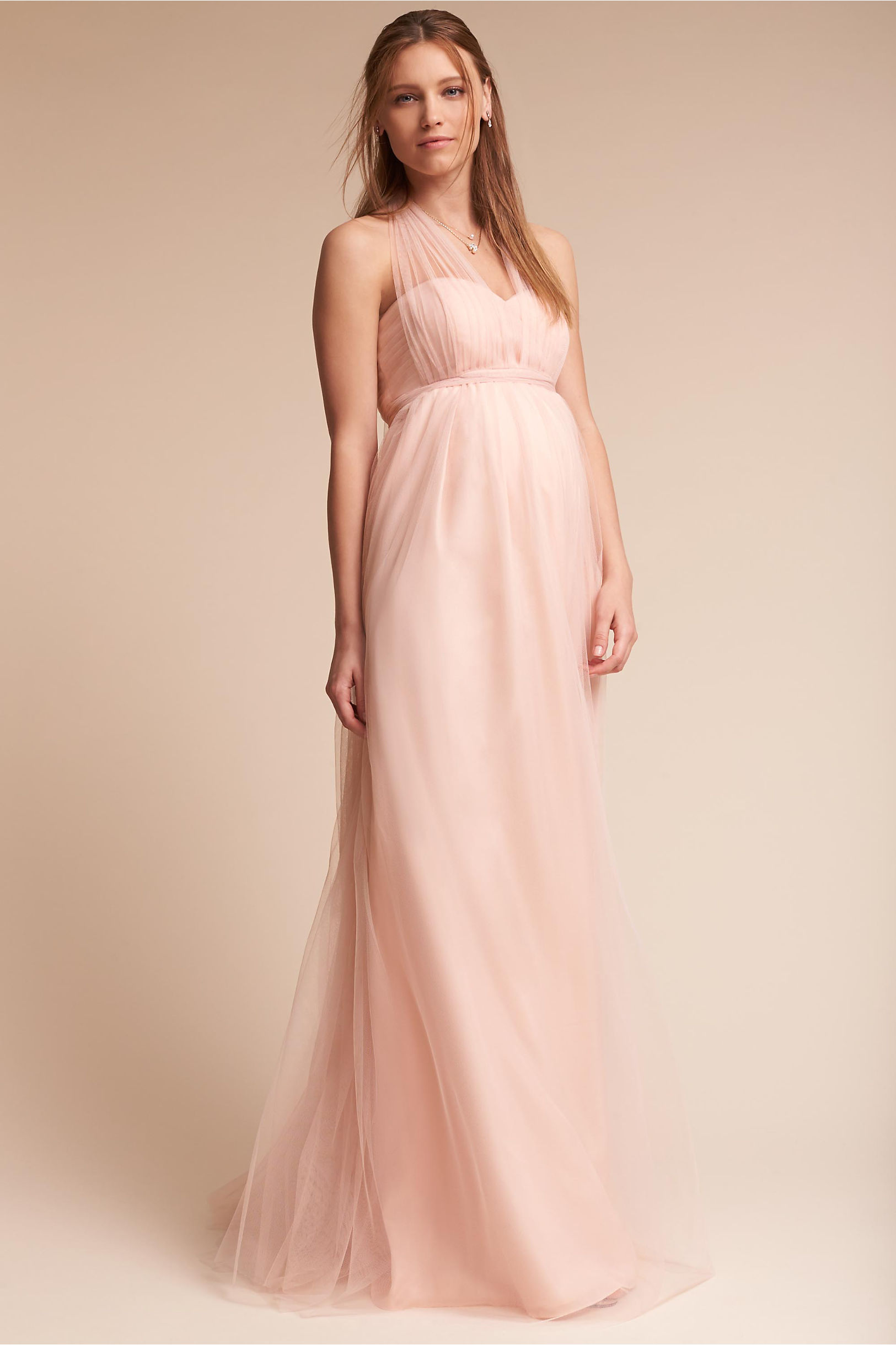 Serafina Maternity Dress Blush in Bridal Party | BHLDN