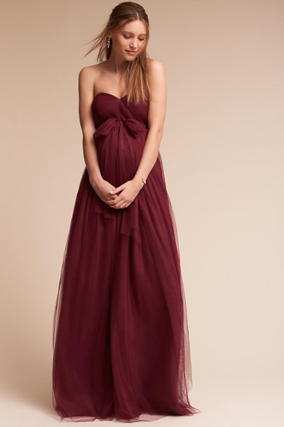 Jenny Yoo Black Cherry Serafina Maternity Dress | BHLDN