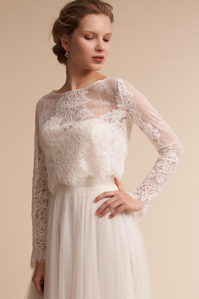 Lotus Threads Ivory Eternal Topper | BHLDN