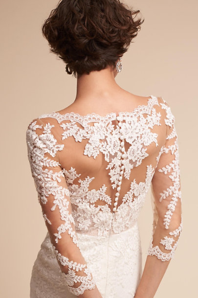 Pronovias Ivory Pique Gown | BHLDN