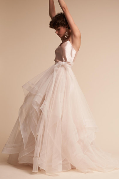 Watters Ivory Effie Skirt | BHLDN
