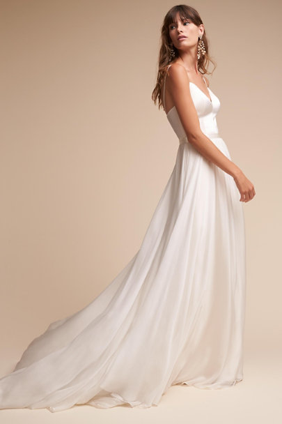 Catherine Deane Cream Kameron Gown | BHLDN