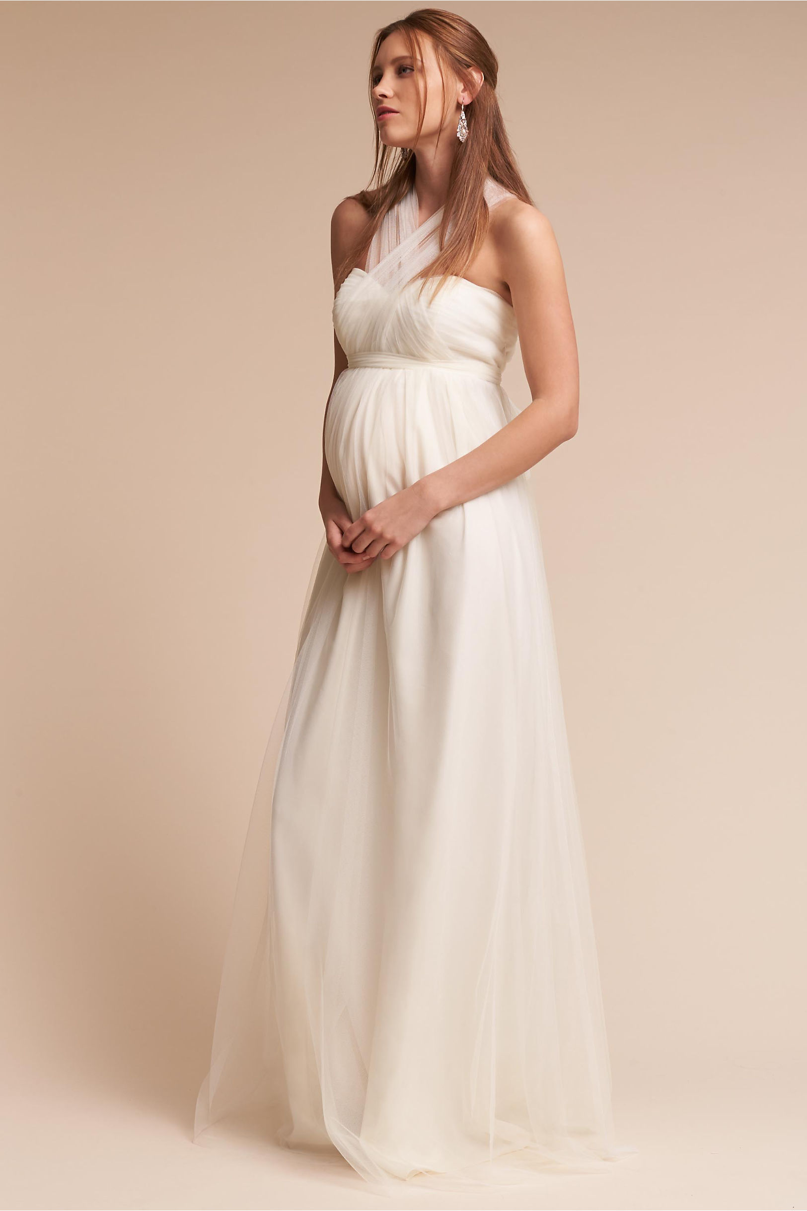 Serafina Maternity Dress Black Cherry in Bridal Party | BHLDN