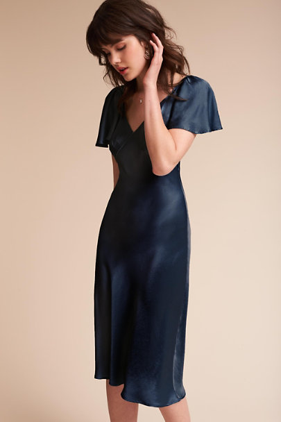 Ghost London Navy Giselle Dress | BHLDN