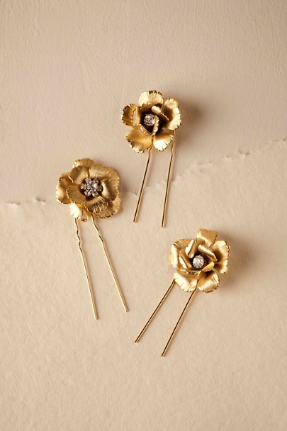 Ti Adoro Gold Garden Gate Hair Bobbies | BHLDN