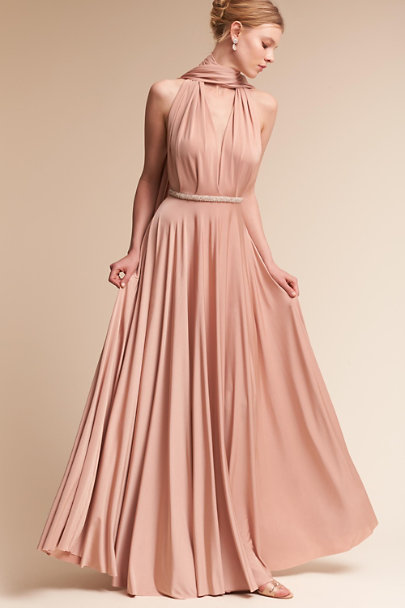 twobirds Matte Rosewater Ginger Convertible Maxi Dress | BHLDN