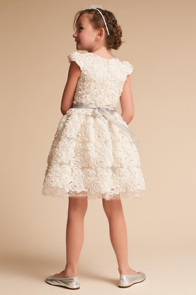 Halabaloo Ivory Rosette Dress | BHLDN