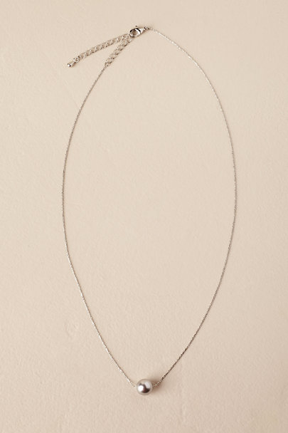 Theia Jewelry Silver Serra Pearl Necklace | BHLDN