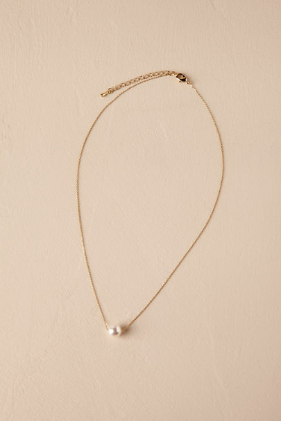 Theia Jewelry Gold Serra Pearl Necklace | BHLDN