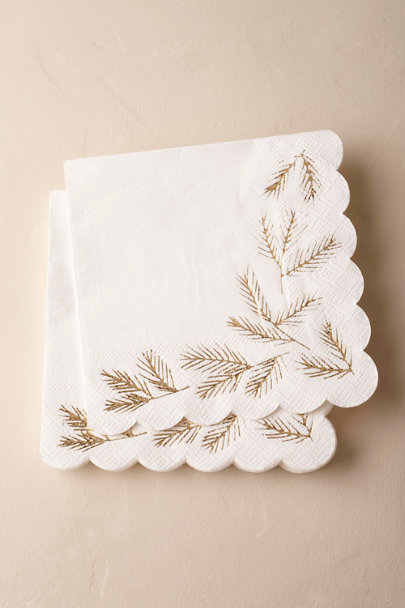 White Winter Fir Napkins (16) | BHLDN
