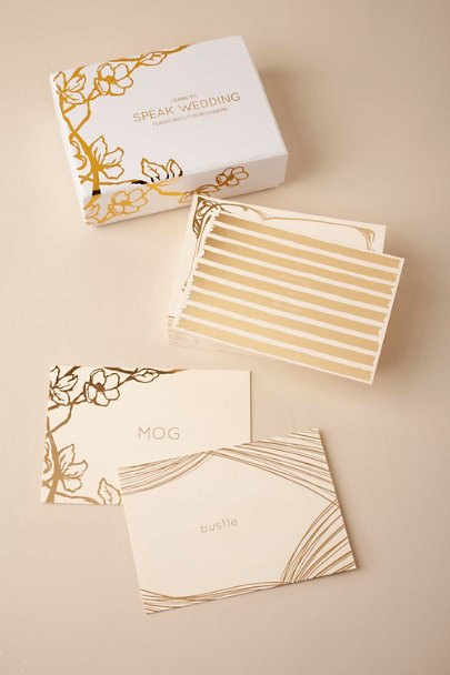 White Wedding Lingo Flashcards | BHLDN