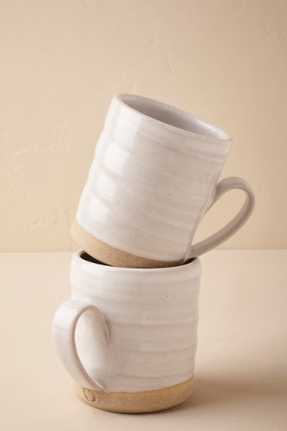 Farmhouse Pottery Cream Stoneware Mug Set (2) | BHLDN