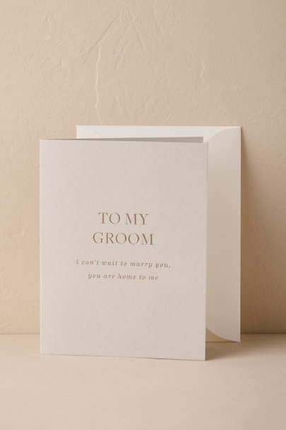 Light Grey To My Beloved Card | BHLDN