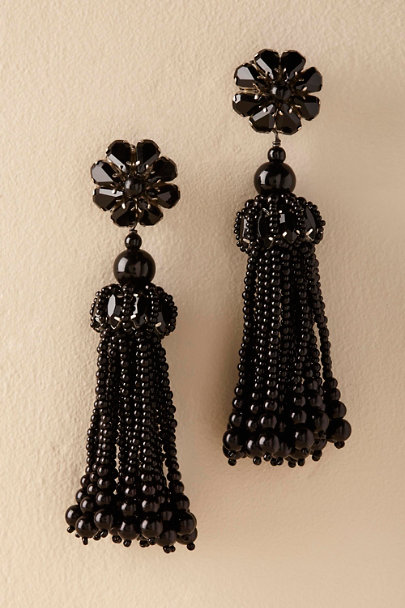 St. Erasmus Black Leya Earrings  | BHLDN