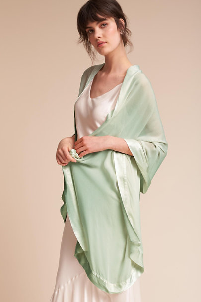 Ghost London Dusty Green Zara Shawl | BHLDN