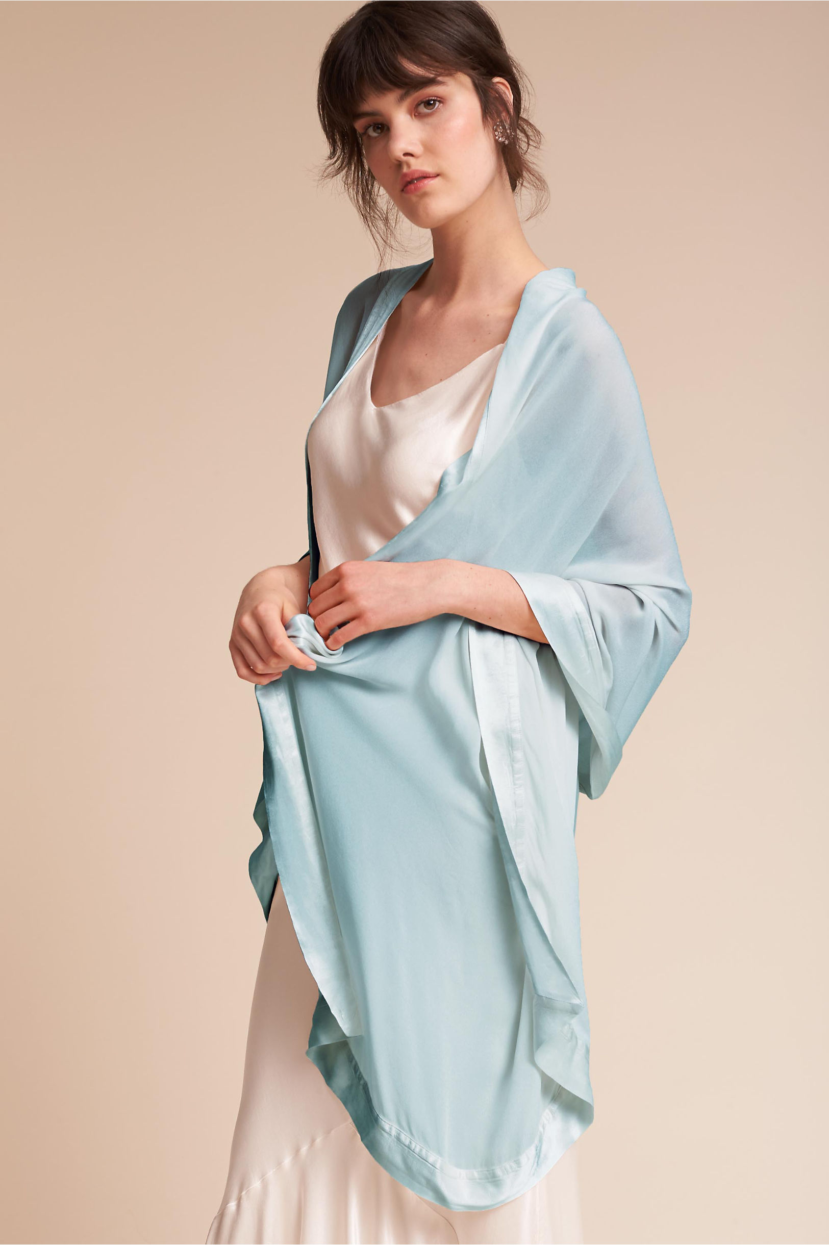 Zara Shawl Sky Light in Sale | BHLDN