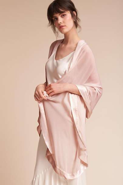 Ghost London Boudoir Pink Zara Shawl | BHLDN