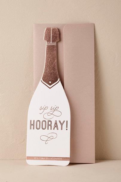 White Sip, Sip, Hooray! Card | BHLDN