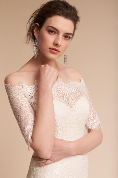 Watters Ivory Oyster Savannah Gown Bhldn