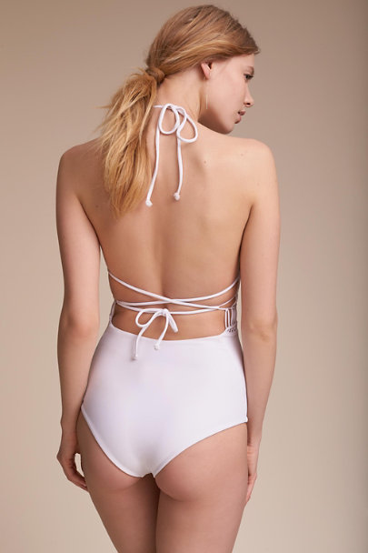 Gillia White Suzanne One-Piece Swimsuit  | BHLDN