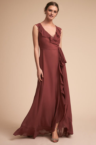Donna Morgan Rusty Rose Julliard Dress | BHLDN