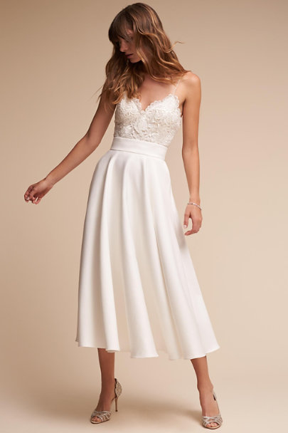 Catherine Deane Ivory Jordan Skirt | BHLDN
