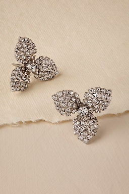 Crystal Orchid Stud Earrings