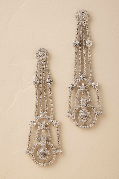 Jennifer Behr Silver Odeon Chandelier Earrings | BHLDN