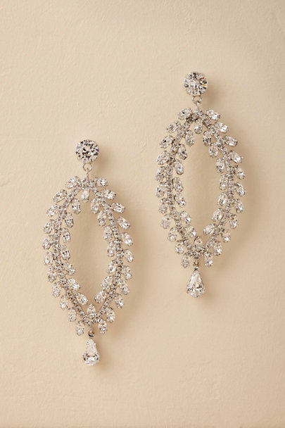 Jennifer Behr Silver Victoire Chandelier Earrings | BHLDN