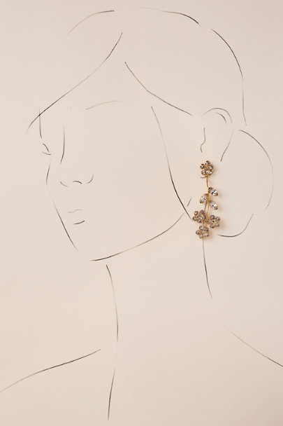 Jennifer Behr Gold Emaline Chandelier Earrings | BHLDN