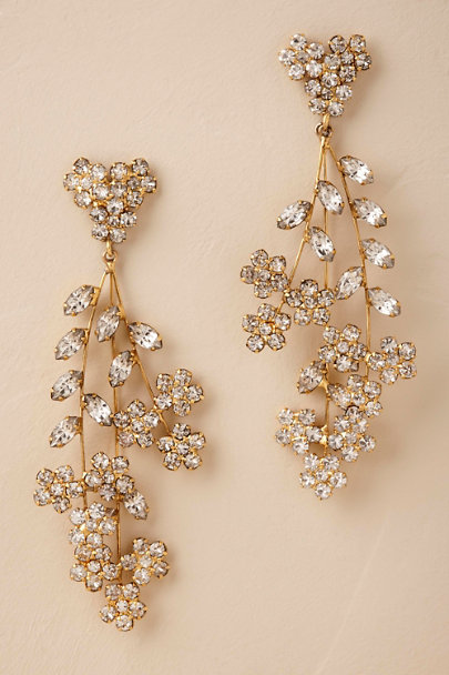 Jennifer Behr Gold Elysia Chandelier Earrings | BHLDN