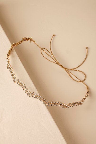 Jennifer Behr Gold Blossoming Vine Headband | BHLDN