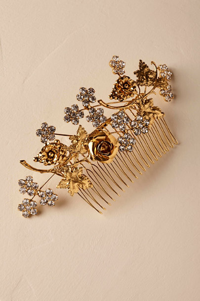 Jennifer Behr Gold Ophelia Hair Comb | BHLDN