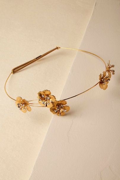 Jennifer Behr Gold Susette Headband | BHLDN