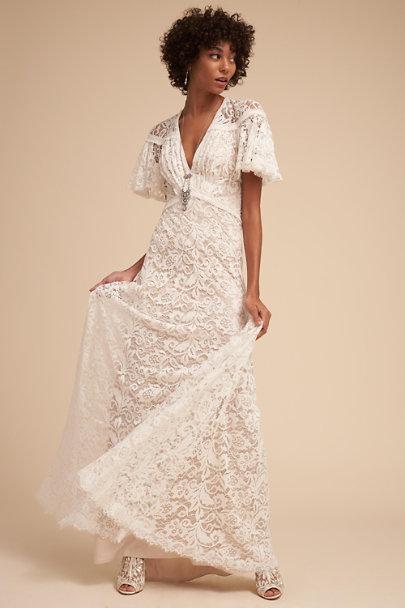 7668d834ad06 Tadashi Shoji Ivory Copeland Gown