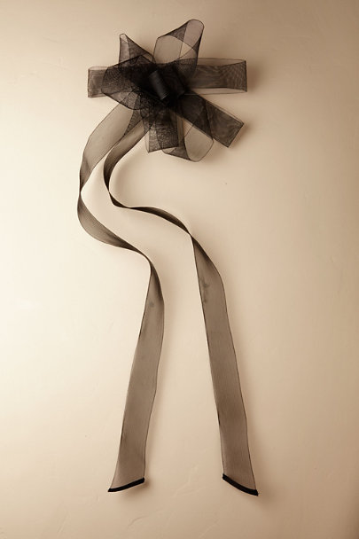 e678d8eb69a3 Madeleine Fig Black Horsehair Ribbon Sash | BHLDN ...