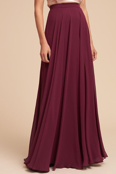 Jenny Yoo Black Cherry Hampton Skirt | BHLDN