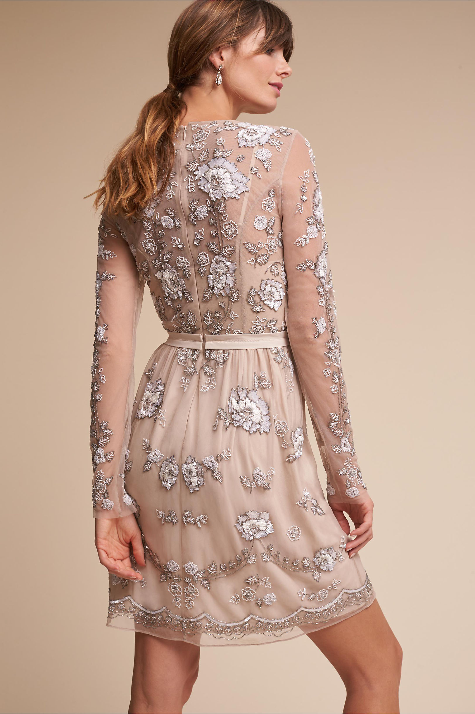 Malia Dress Taupe in Sale   BHLDN