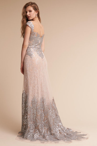 BHLDN Gunmetal/Nude Keller Dress | BHLDN