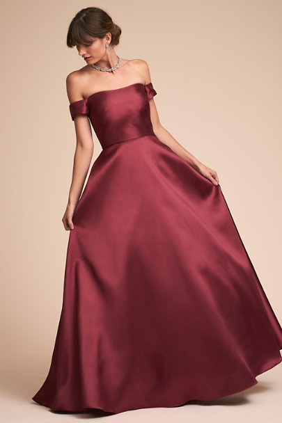 f670a151505b ML Monique Lhuillier Raspberry Chatham Dress