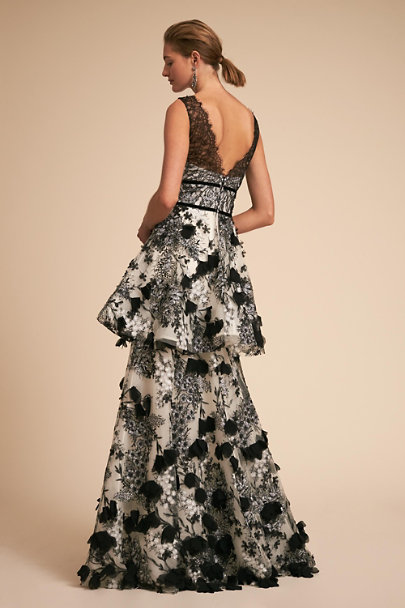 Marchesa Notte Black/White Venturi Dress | BHLDN