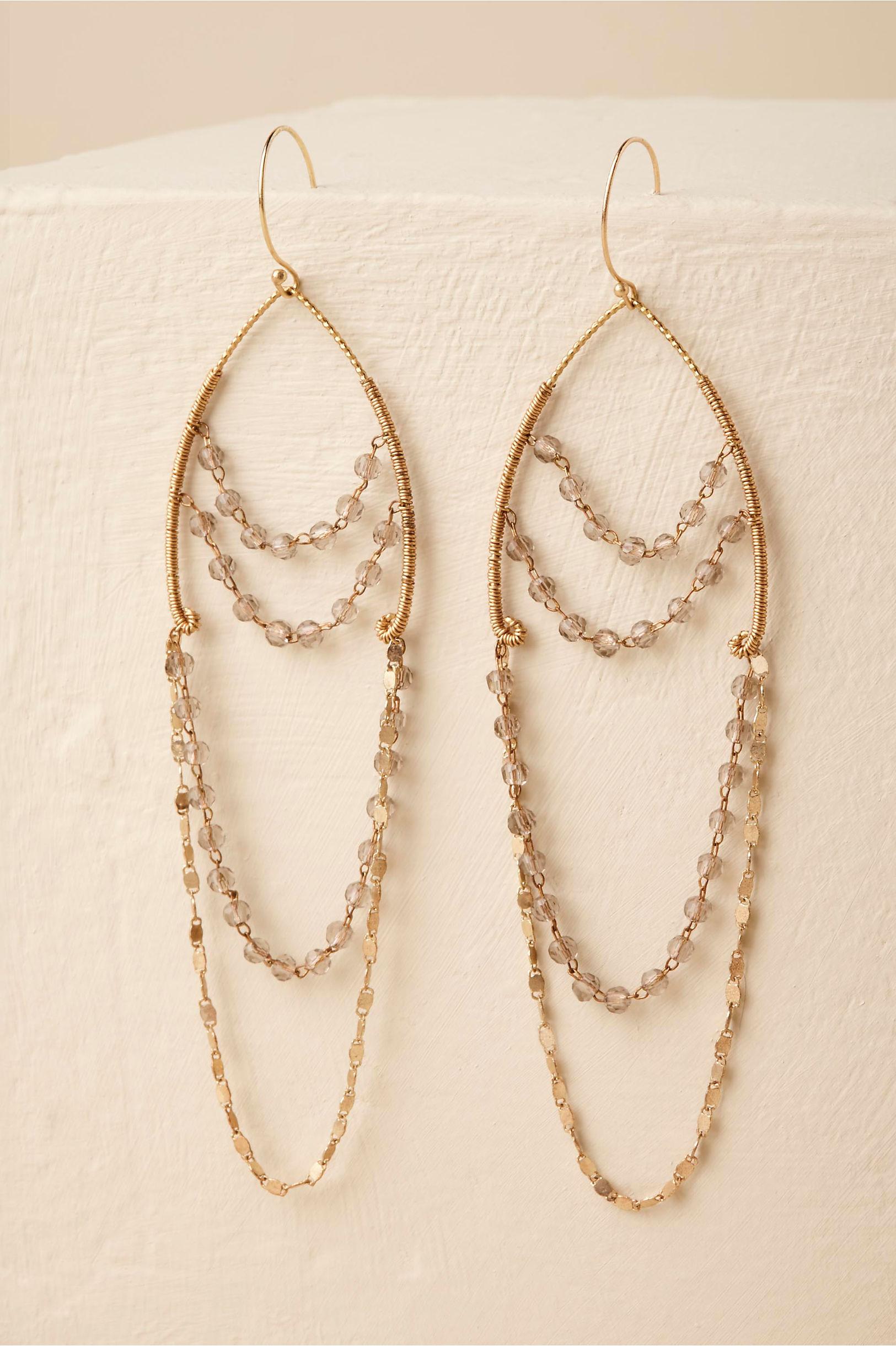 lyanna chandelier earrings gold in sale bhldn