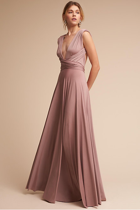 elegant maxi dresses for weddings convertible maxi dress matte rosewater in 3853