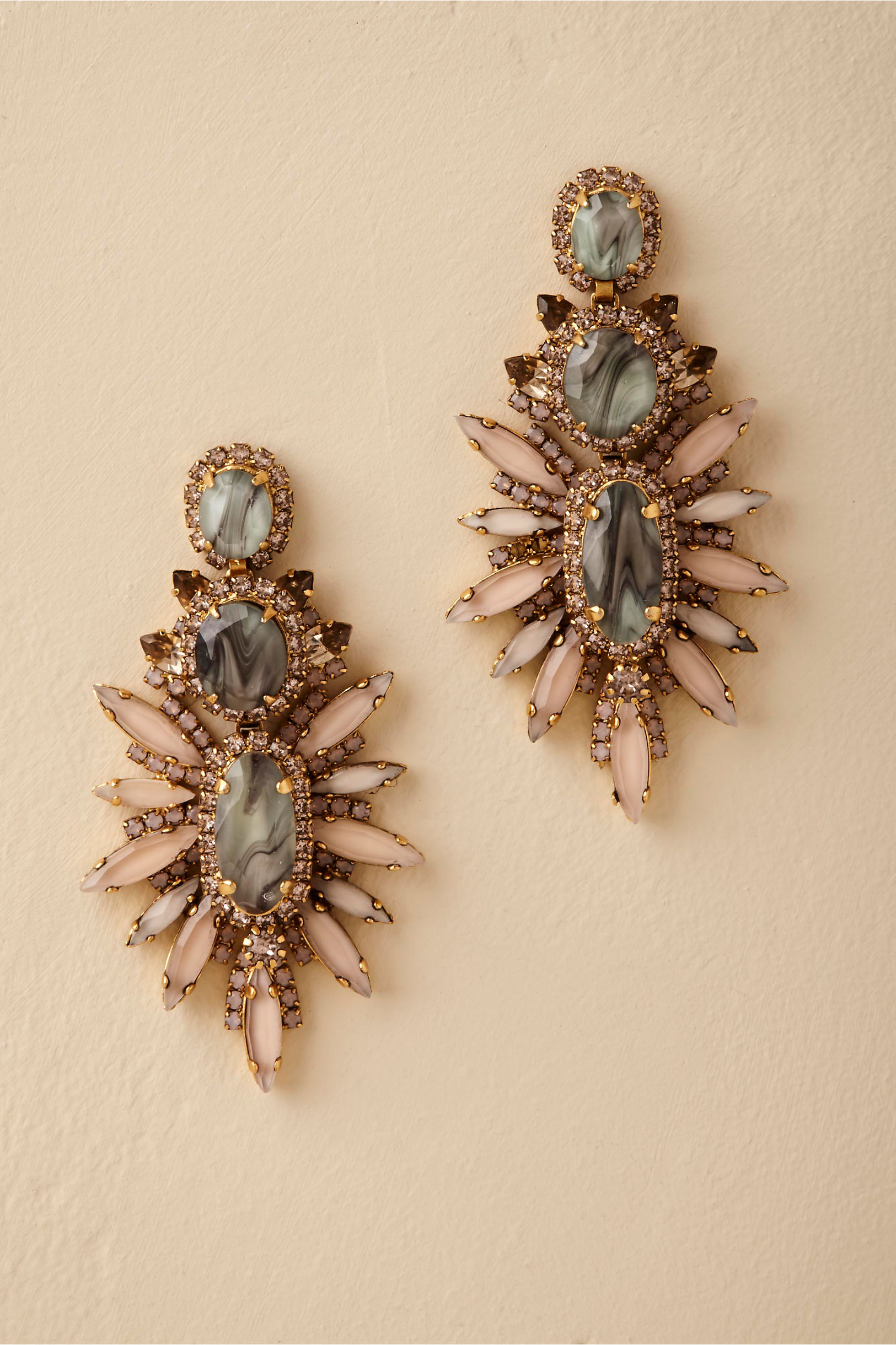 earrings plated erickson by beamon bouquet vermeil gold pin crystal